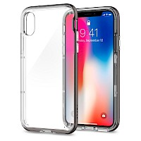 Spigen iPhone X Case Neo Hybrid Crystal Gunmetal 057CS22172