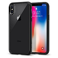 Spigen iPhone X/Xs Case Ultra Hybrid Matte Black 063CS25116