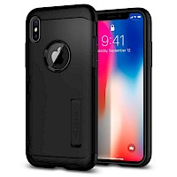 Spigen iPhone X/Xs Case Slim Armor Black 063CS25136