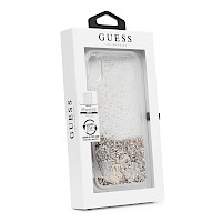 Original GUESS Silikonska maska za iPhone XR Sand zlatna