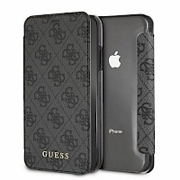 Original GUESS Preklopna futrola za iPhone XR Sivo-Crna
