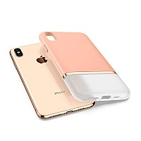 Spigen iPhone Xs Max Case La Manon Jupe Milk Peach 065CS25371