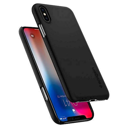 Spigen iPhone X/XS Case Thin Fit Black 063CS24904