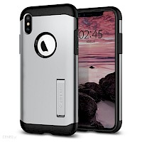 Spigen iPhone Xs Max Case Slim Armor Satin Silver 065CS25159