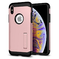 Spigen iPhone Xs Max Case Slim Armor Rose Gold 065CS25157