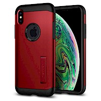 Spigen iPhone Xs Max Case Slim Armor Merlot Red 065CS25158