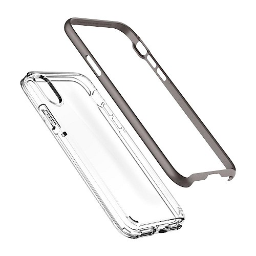 Spigen iPhone X/Xs Case Neo Hybrid Crystal Gunmetal 063CS24924
