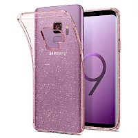Spigen Galaxy S9 Case Liquid Crystal Glitter Rose Quartz 592CS22832