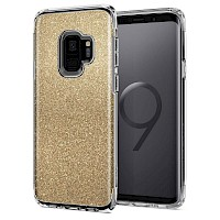 Spigen Galaxy S9 Case Slim Armor Crystal Gold Quartz 592CS22885