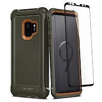 Spigen Galaxy S9 Case Pro Guard 360 Full Coverage Army Green 592CS22897