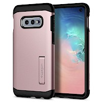 Spigen Galaxy S10e Case Tough Armor Rose Gold 609CS25844
