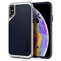 Spigen iPhone X/Xs Case Neo Hybrid Satin Silver 063CS24920