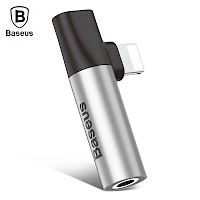 Baseus Adapter 3.5mm to Lightning Sivi