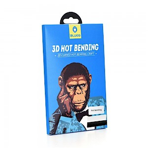 3D Mr. Monkey Zaštitno staklo za ekran za iPhone X/Xs/iPhone 11 Pro Crno (Hot Bending)
