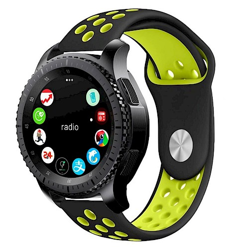 Tech-Protect® Softband Remen za Samsung Gear S3 Crno zeleni