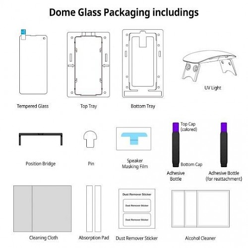 Premium Whitestone® Dome Glass Zaštitno staklo za ekran za Samsung Galaxy S20 Ultra (UV Glass)