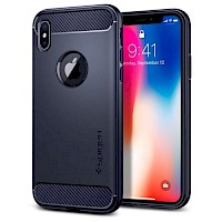 Spigen iPhone X Case Rugged Armor Midnight Blue 057CS22126