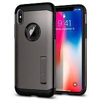 Spigen iPhone X Case Slim Armor Gunmetal 057CS22135