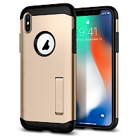 Spigen iPhone X Case Slim Armor Champagne Gold 057CS22136