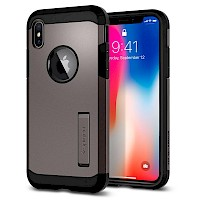 Spigen iPhone X Case Tough Armor Gunmetal 057CS22161