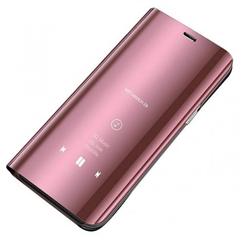 Clear View Standing Cover za Huawei P30 Pink
