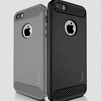 iPaky Silikonska maska za iPhone 5 Rugged Siva