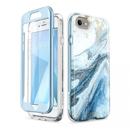 Supcase® iPhone 7/8 Case Cosmo Blue - dvostrana maska