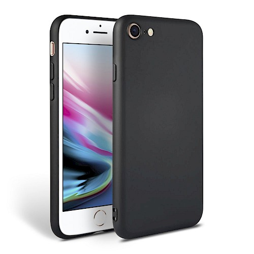 Tech-Protect® Smooth Silikonska maska za iPhone 7/8 Crna