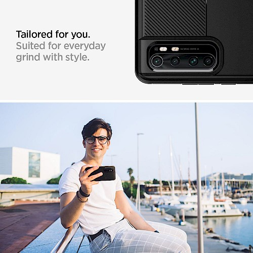 Spigen Xiaomi Mi Note 10 Lite Case Rugged Armor Matte Black ACS01306