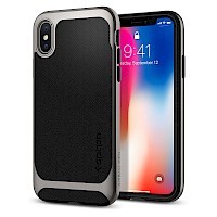 Spigen iPhone X Case Neo Hybrid Satin Silver 057CS22167