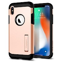 Spigen iPhone X Case Tough Armor Blush Gold 057CS22162