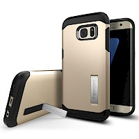 Spigen Galaxy S7 Edge Case Tough Armor Champagne Gold 556CS20044