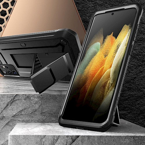 Supcase® Samsung Galaxy S21 Ultra Case Unicorn Beetle PRO Black