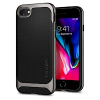 Spigen iPhone 7/8 Case Neo Hybrid Gunmetal Herringbone 054CS22197