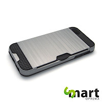 Silikonska maska za iPhone 5(s)&SE Card Holder Siva