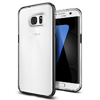 Spigen Galaxy S7 Edge Case Neo Hybrid Crystal Gunmetal 556CS20047