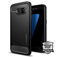 Spigen Galaxy S7 Edge Case Rugged Armor Black 556CS20033