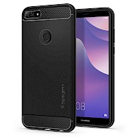 Spigen Huawei Y7 2018 Case Rugged Armor Black L29CS24127